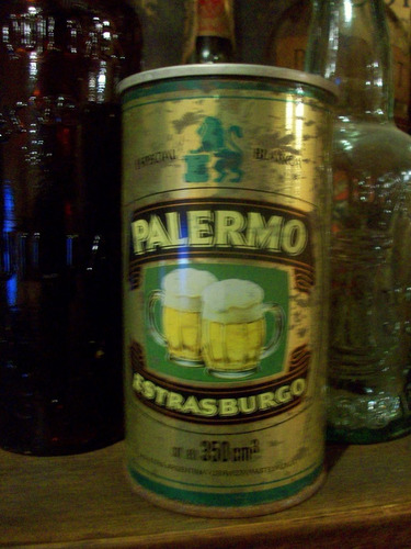 lata chapa antigua cerveza palermo