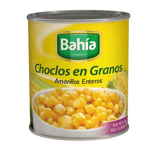 lata choclo amarillo granos enteros 300 gr enlatado sin tacc
