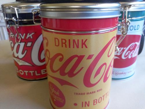 lata cierre hermetico frasco vintage coca cola  x 3 uni ulti