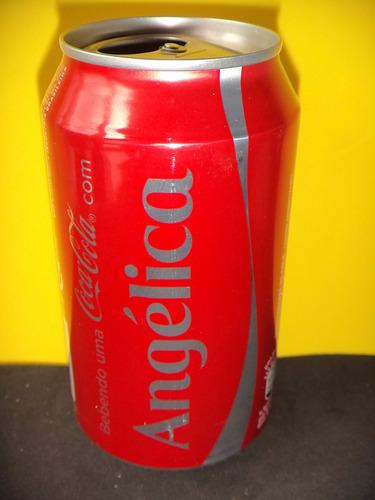 lata coca-cola nomes angélica 2015 rexam n136