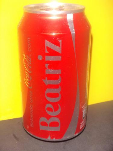 lata coca-cola nomes beatriz 2015 rexam n358