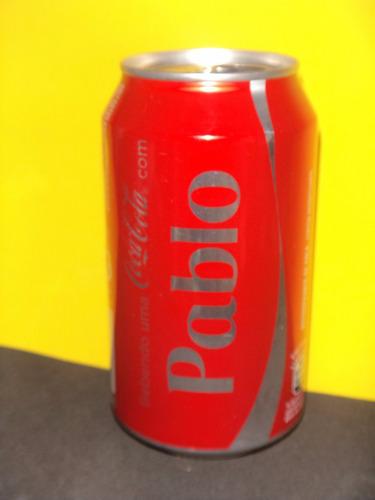 lata coca-cola nomes pablo 2015 rexam - n250