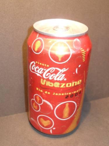 lata coca-cola vibezone rio de janeiro 2004