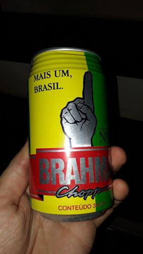 lata comemorativa da cerveja brahma mais um brasil