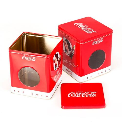 lata con visor coca-cola coleccionable morph