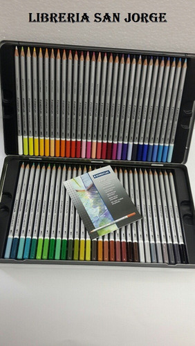 lata de 60 lapices de colores acuarelables staedtler karat