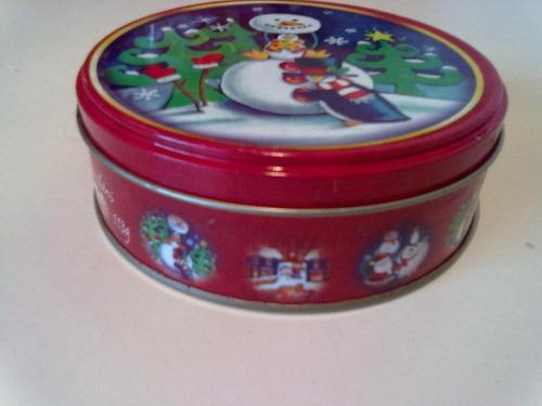 lata de biscoito santa edwigers butter cokies natal ano 2008