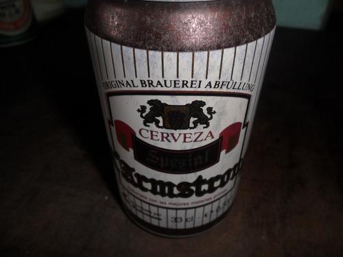 lata de cerveja a'armstrong antiga cheia