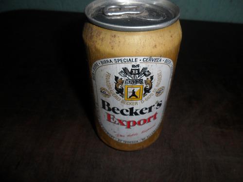 lata de cerveja beckers antiga cheia