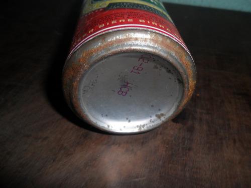 lata de cerveja brand pilsener antiga cheia