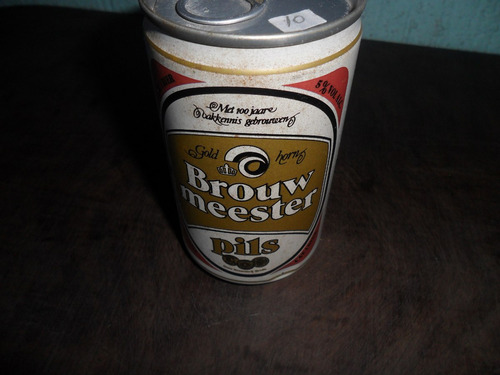 lata de cerveja brouw meester de ferro antiga vazia