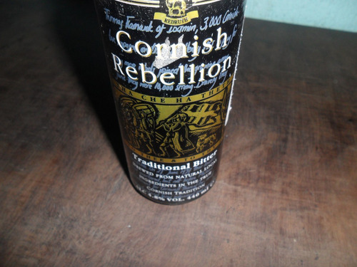 lata de cerveja cornish rebellion antiga cheia