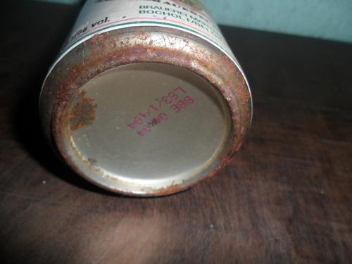 lata de cerveja damburger antiga cheia