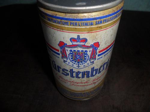 lata de cerveja fúrstenberg de ferro antiga vazia