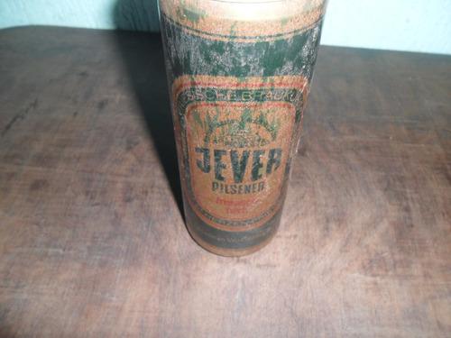lata de cerveja jever pilsener de ferro antiga vazia