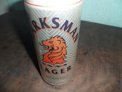 lata de cerveja marksman antiga cheia