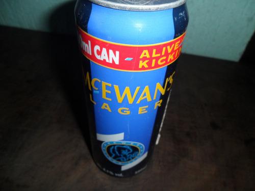lata de cerveja mc ewan's lager antiga cheia