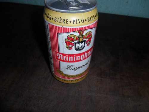 lata de cerveja reininghaus antiga cheia