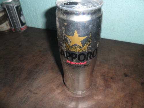 lata de cerveja sapporo antiga