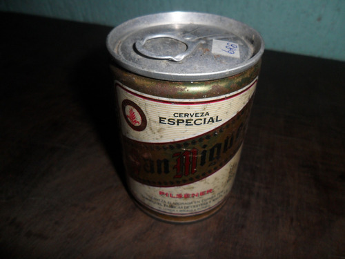 lata de cerveja são miguel antiga cheia