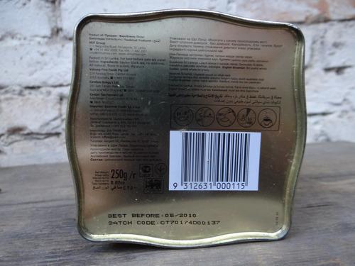 lata de chá inglês marca dilmah vazia: estado muito bom