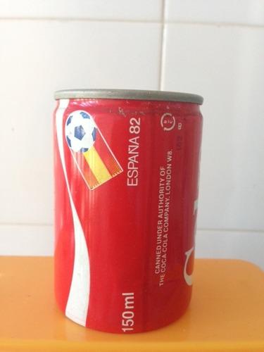 lata de coca cola - espanha - copa 82 - 150 ml - e coleçoes