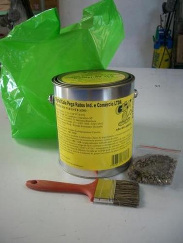 lata de cola pega rato para fabricação de ratoeiras - contem