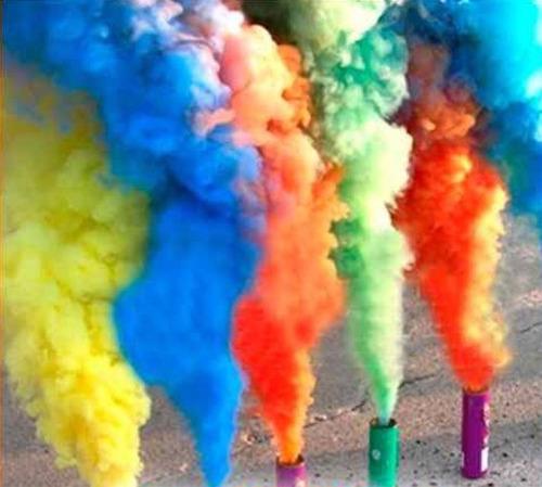 lata de humo mediano pote de humo 13 colores a eleccion