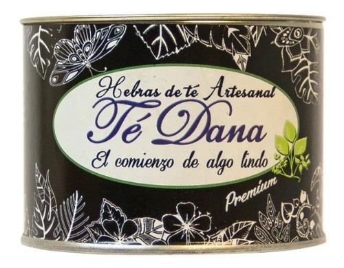 lata de té artesanal dana x30g premium - línea gourmet