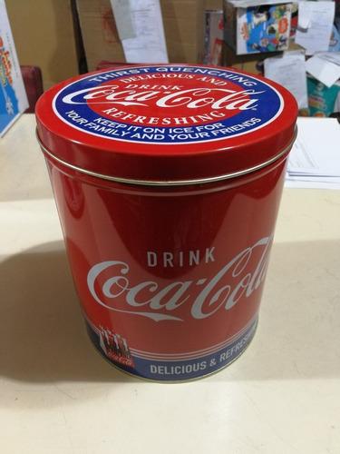 lata galletas coca cola vintage coleccionables casa valente