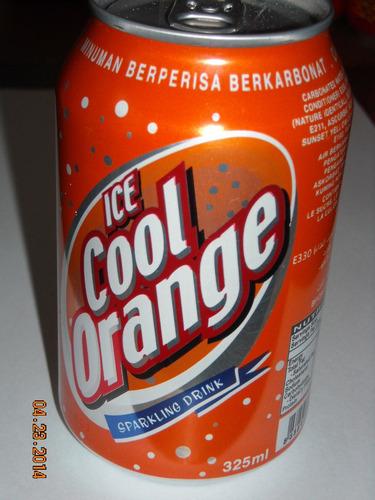 lata ice cool orange de malasia nueva