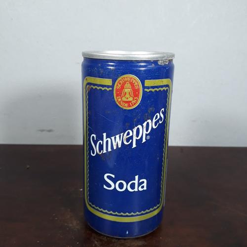 lata latinha antiga refrigerante schweppes soda venezuela