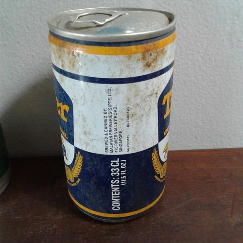 lata latinha cerveja antiga tiger lager flandres singapura