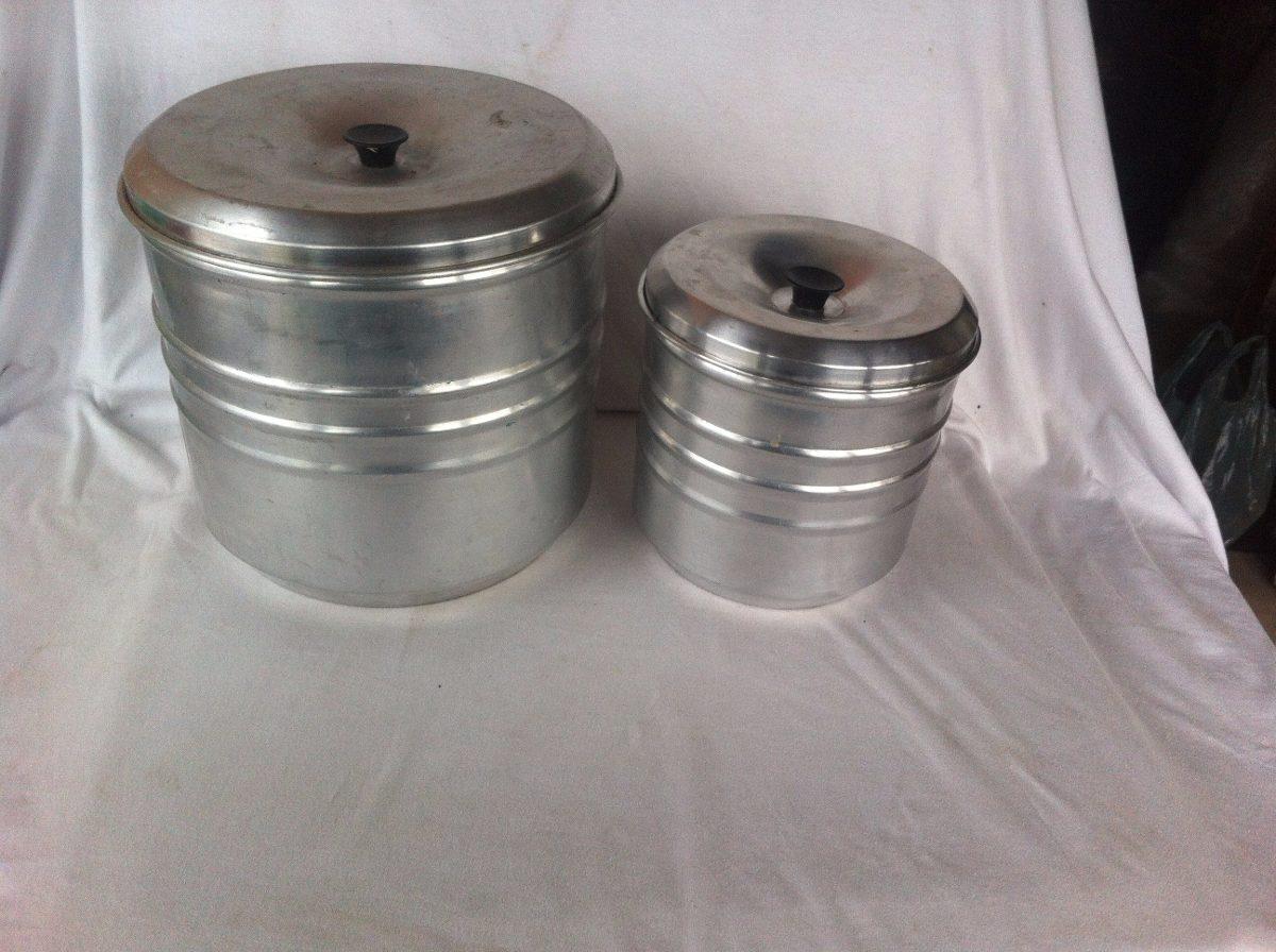 Lata Mantimentos Comida De Aluminio Maior Com Tampa R 7500 Em