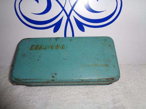 lata para máquina de costura  -  diamond - antiga