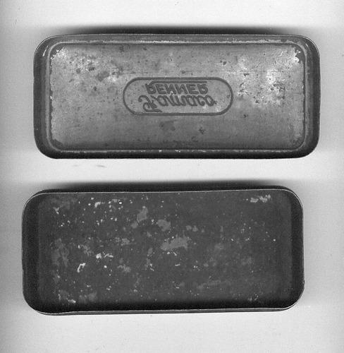 lata porta objetos máquina de costura famaco renner antiga