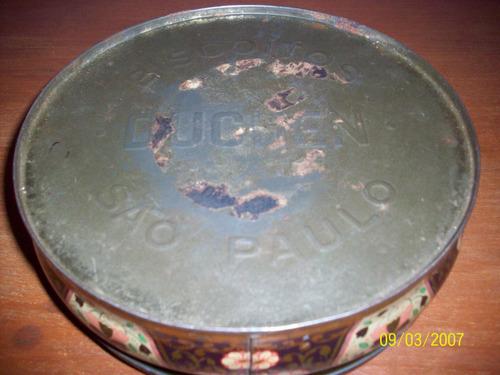 lata redonda para galletitas antigua