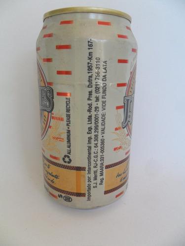 lata vazia latinha cerveja j. j. jones ano 1997