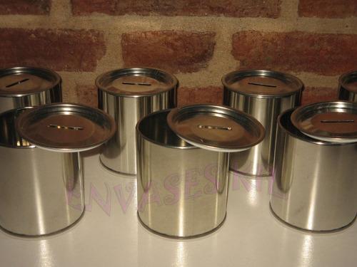 latas alcancias 8,5 x 9 tapa desmontable souvenirs pack x 30