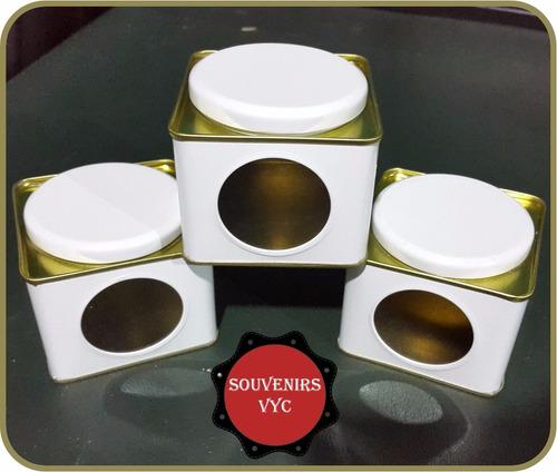 latas alcancias giratorias ideal souvenirs x100 unidades!!!
