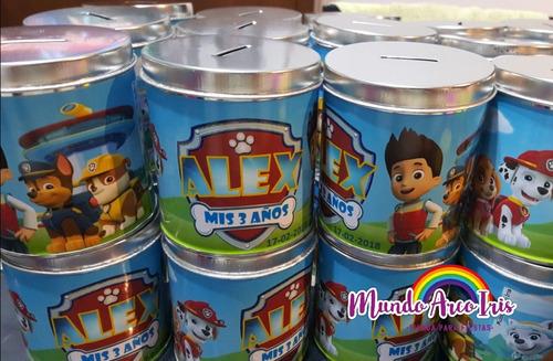latas alcancías personalizadas con tapa (se abren) pack x 10