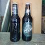 Botellas Cerveza Negra Pilsen Y Patricia Con El Contenido