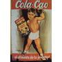 Afiche Metálico Antigua Publicidad Cola Cao