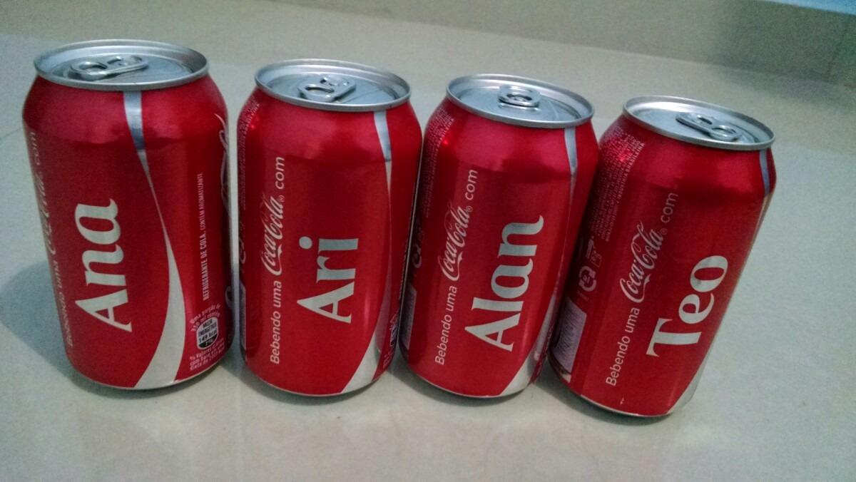 Latas Coca Cola Com Nomes Cheias - R$ 25,00 em Mercado Livre