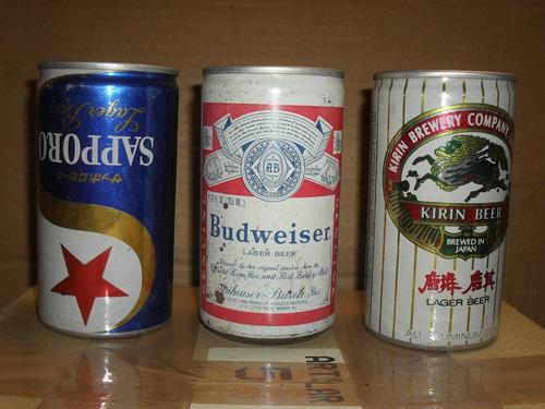 latas de cervezas, nac. e importadas ... brahma rock beer