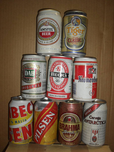 latas de cervezas, nac. e importadas ... de coleccion