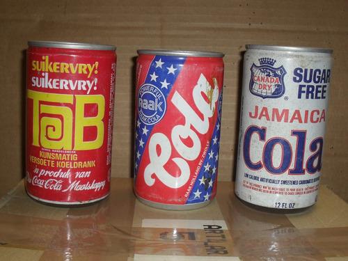 latas de gaseosas colas importadas ... valor x c/u !!!