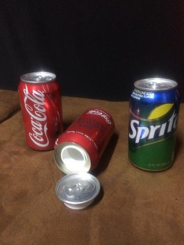 latas de gaseosas falsas para esconder dinero u otras cosas