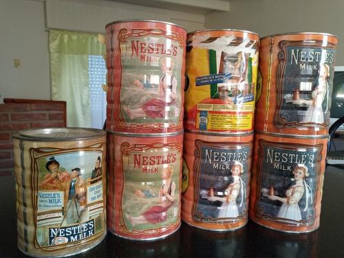 latas de leche nido de colección