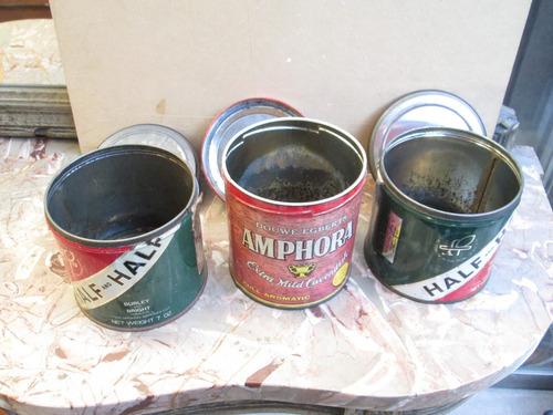 latas de tabaco antiguas